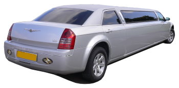 Chauffeur driven silver Chrysler 300 stretched limousine - School Proms, Birthdays, Anniversaries in Watford and beyond.